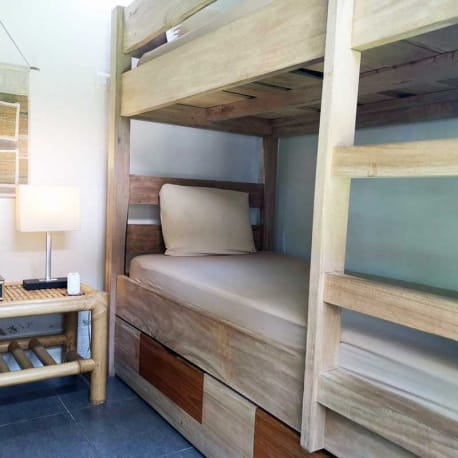 Tetebatu - Les Rizieres Lombok - Bunk beds double room