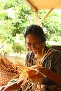 Lombok traditional Bamboo basketry crafts at Loyok village