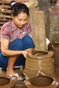 Lombok traditional black Terracotta pottery