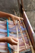 Lombok traditional Sarong weaving