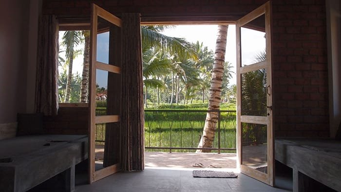 Superior room with rice fields view